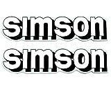 2x Aufkleber Schriftzug SIMSON weiß S51 Tank BJ-Handel
