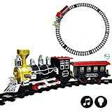 #9: Akhand Musical Vintage Train Set Toy for Kids with Tracks and Sound