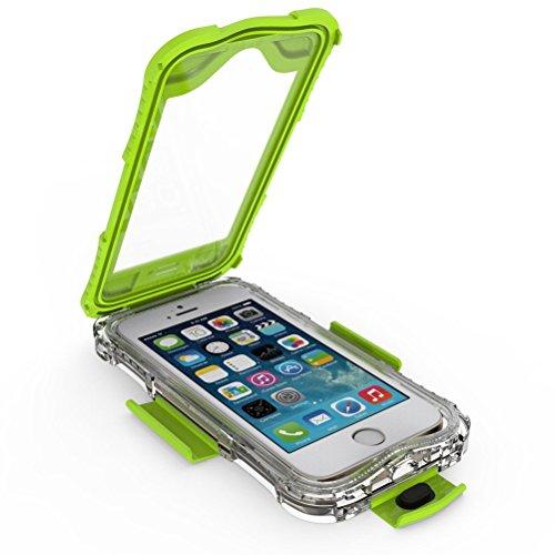 MOONCASE iPhone SE Coque Etanche Preuve de l'eau Protection Waterproof Case Anti-Choc Anti-Neige Anti-Poussière Etui pour iPhone 5 5S / iPhone SE Teal Vert