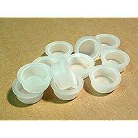 18,50mm LDPE tapas, plástico, tapas, tapón ciego, color blanco, Cubierta Tapón (rohrstopfen), diferentes cantidades disponibles