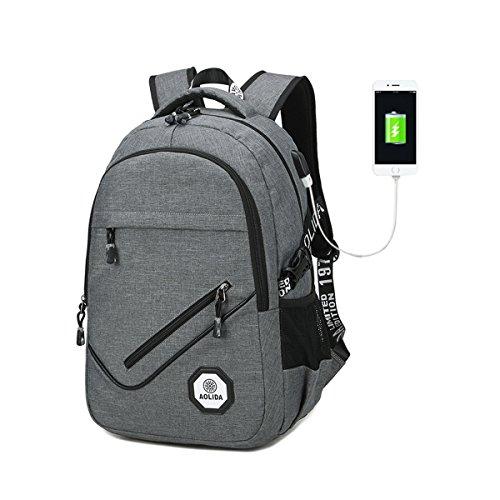 USB laptop Rucksack aus kommerziellen diebstahl einen wasserdichten Polyester laptop im Rucksack ,Freizeit Wander / Rucksack / multi funktions Rucksack Männer / Frauen (Grau)