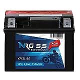 NRG 5,5Ah 12V AGM Motorrad Batterie YTX5L-BS 110A/EN Startkraft Motorradbatterie YTX5L-4