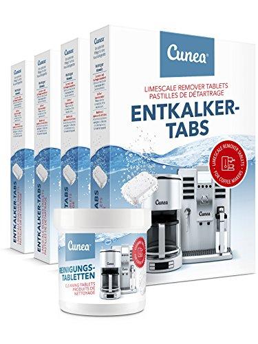 Cunea Reinigungset 80x Entkalkungstabletten & 50x Reinigungstabletten für Kaffeevollautomaten...
