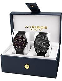 Akribos XXIV Set de 2 relojes AK885BK
