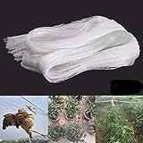 KRIWIN 12 X 10 FT (120 sq ft) Anti Bird Agro Net - White Net with Nylon Ropes for Easy Tying (Niwad)