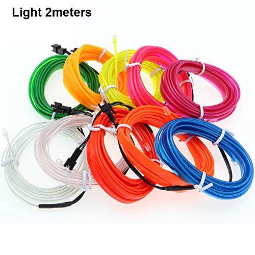 Liamostee 2/3/4/5 Mt Auto Innen Glow EL Draht LED Streifen Licht Seil 12 V USB Auto Auto Decor Light Set