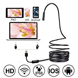 Dazone HARTES - Cámara endoscópica (Cable de 5 m, USB, 5,5 mm, HD, LED, para teléfono móvil, Android y PC)