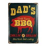 """Blechschild Nostalgie """"Dad's BBQ"""""""