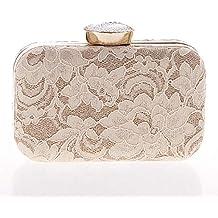 44043ea079 Xuanbao Borsa da Sera Clutch Box Handbag Tracolle da Sera Eleganti da Sera  in Pizzo con
