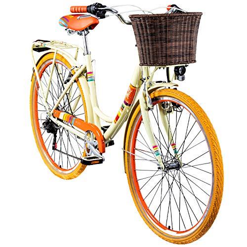 Chill 28 Zoll Damenrad Citybike Fahrrad Hollandrad Damenfahrrad 6 Gang, Farbe:beige, Rahmengrösse:19 Zoll