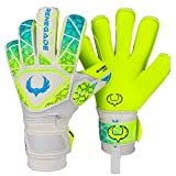 Renegade GK Vortex Wraith Gants Gardien Football pour Enfants et Les Adolescents Taille 8, Roll Hybrid Cut, Level 3 avec 6D Super Mesh Body & German Hyper Grip - Garantie 30 Jours