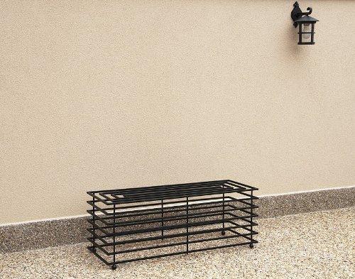 DanDiBo Bank Futura Modern Gartenbank 11670 Sitzbank 110 cm aus Metall Eisen Blumenbank - 5
