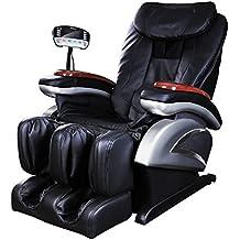 Naipo Shiatsu Massage-Stuhl Ganzkörper Massagesessel Fernsehsessel Entspannungssessel mit S-Schiene, Heizungs-Therapie, Luft-Massage-System, Klopfen-, Schlagen-, Rollen- und Knetenmassage den für Zuhause und Büro