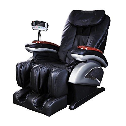 Naipo Shiatsu Massage-Stuhl Ganzkörper Massagesessel Fernsehsessel Entspannungssessel mit S-Schiene Heizungs-Therapie Luft-Massage-System Klopfen- Schlagen- Rollen- und Knetenmassage -