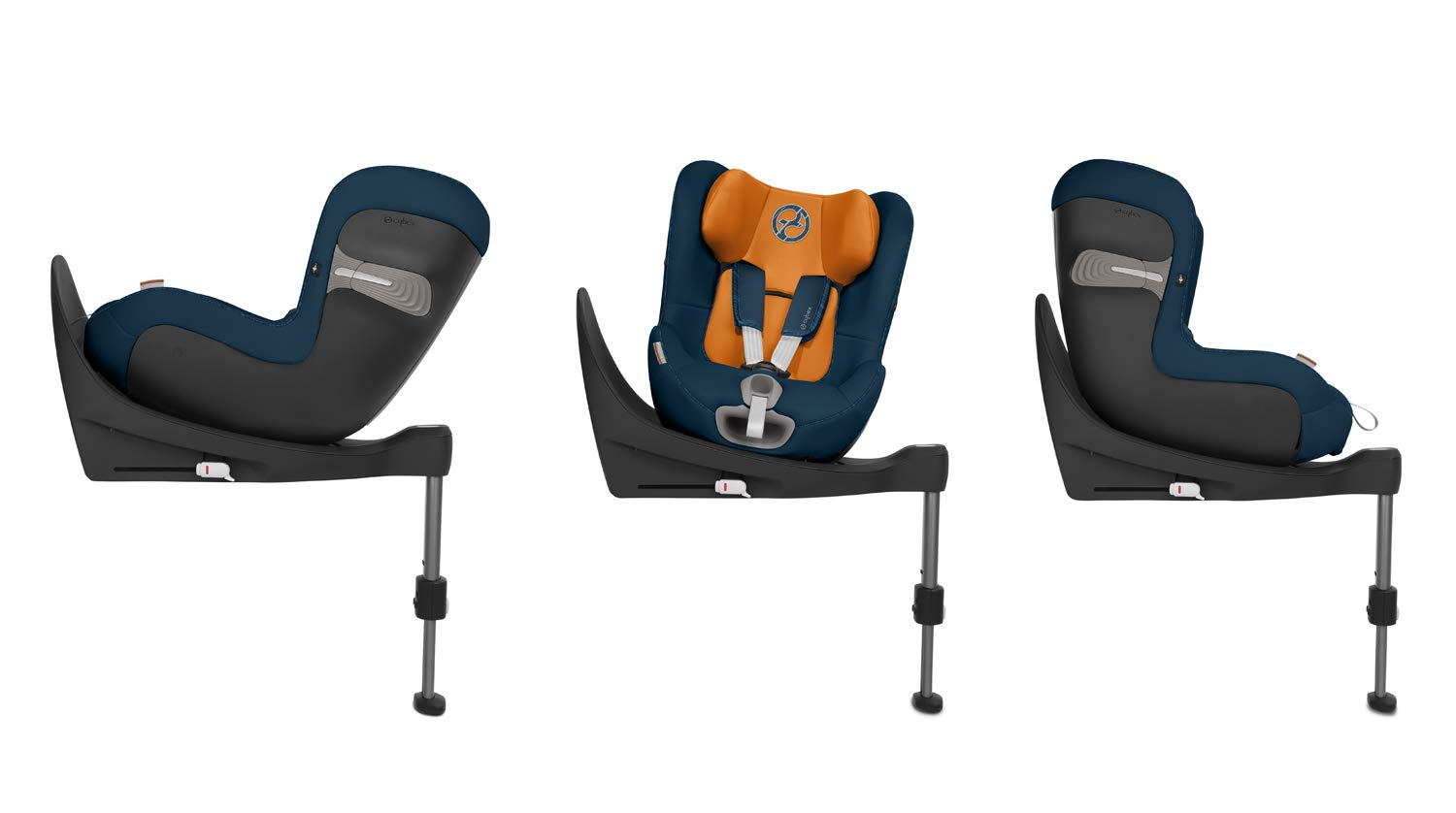 CYBEX Gold Sirona S i-Size Car Seat with 360° Swivel Mechanism and ISOFIX, Incl. SensorSafe chest clip, From Birth to approx. 4 years, Up to Max. 105 cm Height, Fancy Pink  Cybex gold car seat sirona s i-size incl. sensorsafe Item number: 519001863 Colour: fancy pink 3