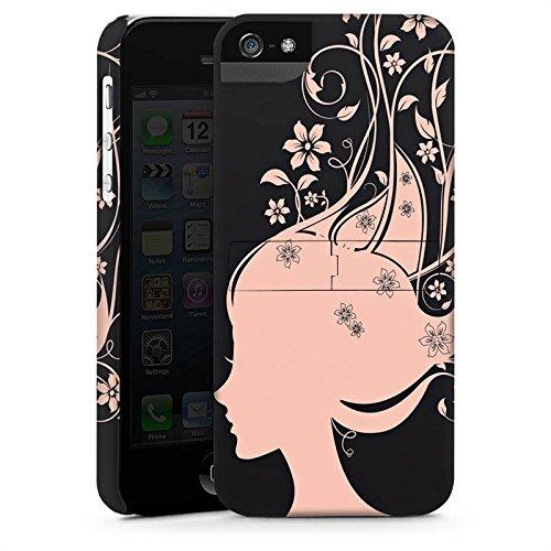 Apple iPhone X Silikon Hülle Case Schutzhülle Frau Blumen Blüten Premium Case StandUp