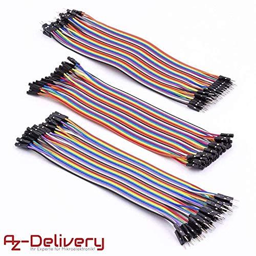 AZDelivery Jumper Wire Cavetti Cable 120pcs Cavi per Arduino Breadboard UNO R3, Raspberry Pi