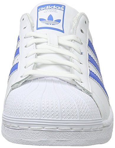 adidas Unisex-Erwachsene Superstar Low-Top, Weiß (Ftwr White/Ray Blue /Ray Blue), 37 1/3 EU -