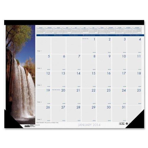 House of Doolittle Earthscapes cascate Compact-Calendario da scrivania 2014, 12 mesi, da gennaio a dicembre 2014, 46,99 x 33,02 (18,5 x 13 cm, Inches) HOD1716 (riciclati), House of Doolittle