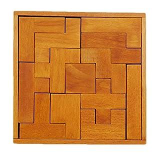 Hengxingwf Puzzle Decompression Wood Toy Kong Ming Lock Lu Ban Lock Boxed Thirteen Blocks