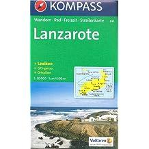 La carte Lanzarote randonnée 1:50.000 KOMPASS # 241
