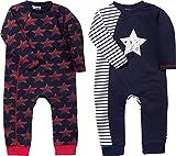 Baby Butt Schlafanzug 2er-Pack Interlock-Jersey marine/rot Größe 74 / 80