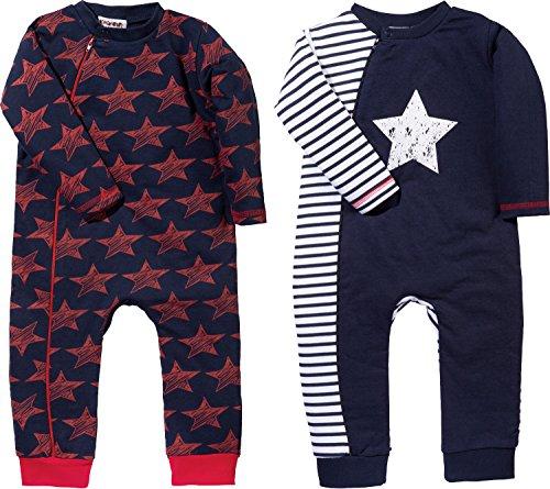 Baby Butt Schlafanzug 2er-Pack Interlock-Jersey Marine/rot Größe 62/68