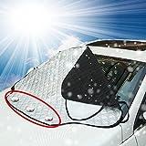 FEZZ Pare-Brise Avant Voiture Magnétique Pare-soleils Couverture Anti Neige UV Ombre Vent Glace Givre Pluie Protecteur (XL 157 * 126)