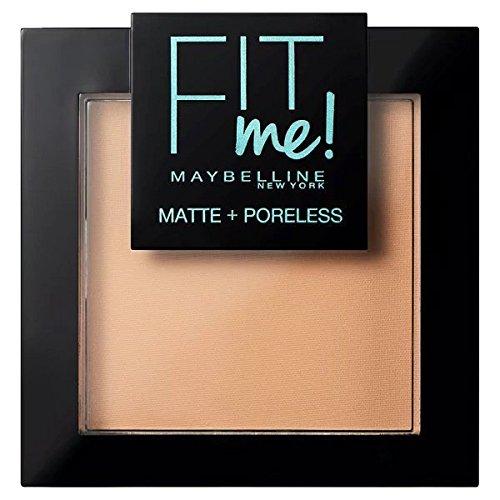 Maybelline Fit Me Polvo Mate y Poroso, Tono 220 Natural Beige - 55, 5 gr