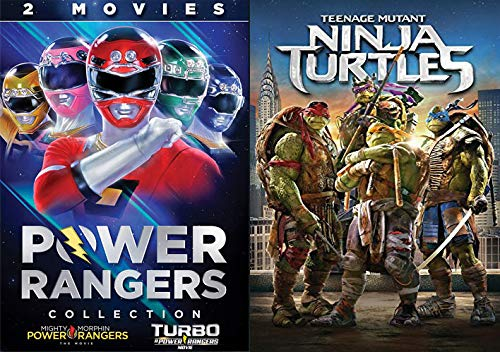 Anyway You Slice It, They Are The Most Famous Action Teams: Power Rangers Collection- Mighty Morphin Power Rangers The Movie/ Turbo & Teenage Mutant Ninja Turtles (2014) DVD SET