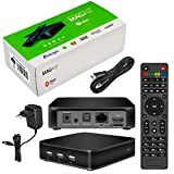 MAG 410 d'origine HB-DIGITAL & Infomir IPTV SET TOP BOX avec Android, WLAN (WiFi) 802.11 b/g/n, Bluetooth 4.1, le support middleware Stalker (de 5.1), Multimedia Player Internet TV IP Receiver (HEVC H.256 support) + HB Digital HDMI câble