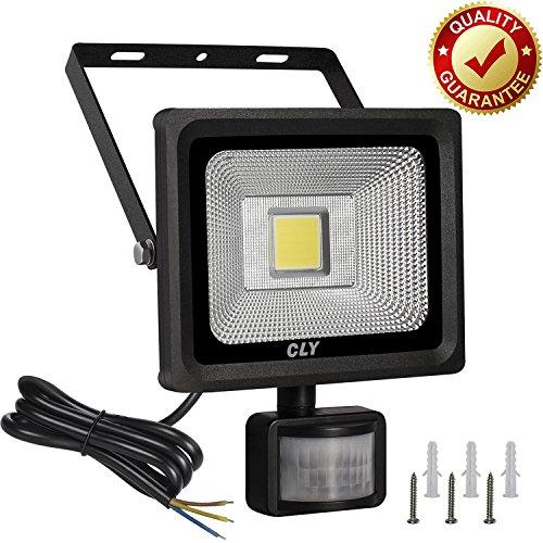 CLY Faretto LED da Esterno con Sensore di Movimento 20W Faro Esterno con Sensore 1800 Lumen Impermeabile IP66 Proiettore LED con Sensore Luce Fredda per Giardino/Terrazza/Cortile