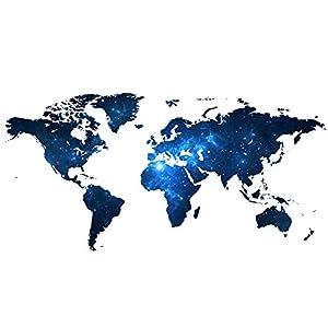 Weaeo Creative Star Mapa del Mundo DIY Vinilo Adhesivo De Pared A Los Niños Les Encanta La Decoración del Hogar Oficina Adhesivos Arte para 3D Pegatinas Decoración Papel Tapiz