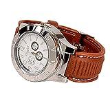 ENJOY-UNIQUE Nuevo Militar USB mechero reloj de Hombre Casual relojes de pulsera con resistente al viento sin llama mechero encendedor de cigarros, Plateado