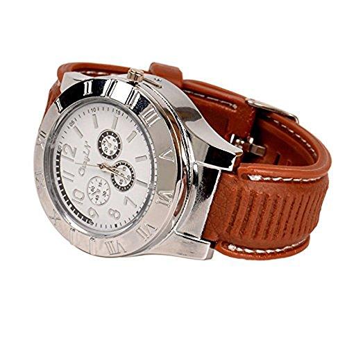 ENJOY-UNIQUE Nuevo Militar USB mechero reloj de Hombre Casual relojes