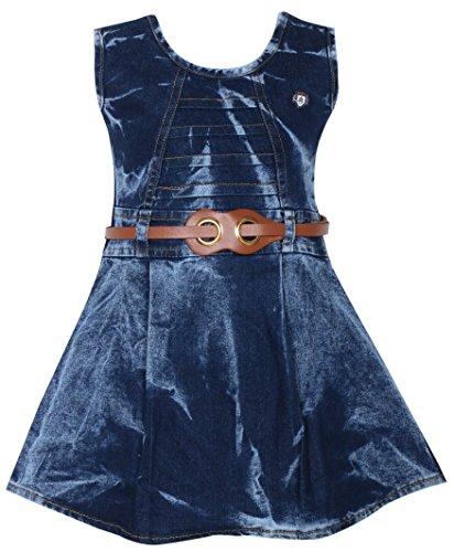 BENKILS Cute Fashion Baby Girl's Infant Jeans Party Wear Frock Dress (Design 1, 18-24 Months)