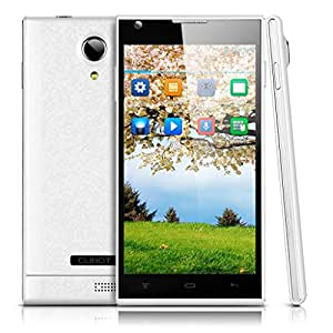 """CUBOT P7 Smartphone blanc 5.0"""" IPS Grand écran ultra mince Android 4.2 Quad-Core MTK6582 512MB RAM + 4G ROM Double SIM Double Caméra 5.0MP & 2.0MP support GPS, WIFI - Compatible avec Orange/ SFR/ Bouygues/ Free"""