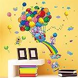 HhGold Der einfache Cartoon Farbe Ballon wandaufklebern Kinder Zimmer sind geschmackvoll Schlafzimmer Kindergarten Klassenzimmer Wall Poster, 60 * 40 cm