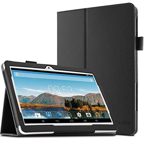 Artizlee 10 Zoll Tablet PC ATL-21 Hülle Case- Infiland Slim Fit Folio PU-lederne dünne Kunstleder Schutzhülle Cover Tasche für 10.1″ Android Tablet-PC Inklusive Artizlee 10 Zoll (10.1″) Tablet PC ATL-211024×600, WEW-1 10,1″ Zoll Pad Tablet PC, 2016 Newest DHL Metal Tablet PC ( Überprüfen Sie bitte die Details der kompatibelen Tablet-Modell-Liste in Produktbeschreibung)(Schwarz)