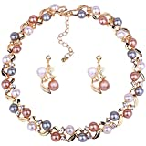 YouBella Stylish Necklace Set Jewellery Set for Women (Multi-Colour) (YBNK_5659)