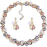 YouBella Stylish Necklace Set Jewellery Set for Women (Multi-Colour) (YBNK_5659)