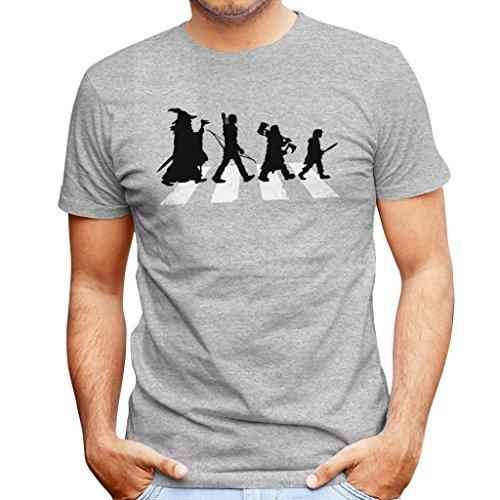 The Hobbit On Abbey Road Men's T-Shirt (Lustig Herr Ringe-t-shirts Der)