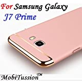 For Samsung Galaxy J7 Prime Cover - RoseGold - MobiTussion New Luxury Smart 3in1 Back Cover Case For Samsung J7 Pime Back Cover Case (RoseGold)