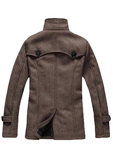 Vogstyle Winter Mantel Klassischer Herrenmode Wollmäntel WärmeJacke Coat Braun
