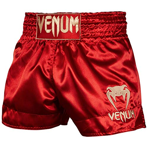 Venum Classic Thaibox Shorts, Rot/Gold, XL