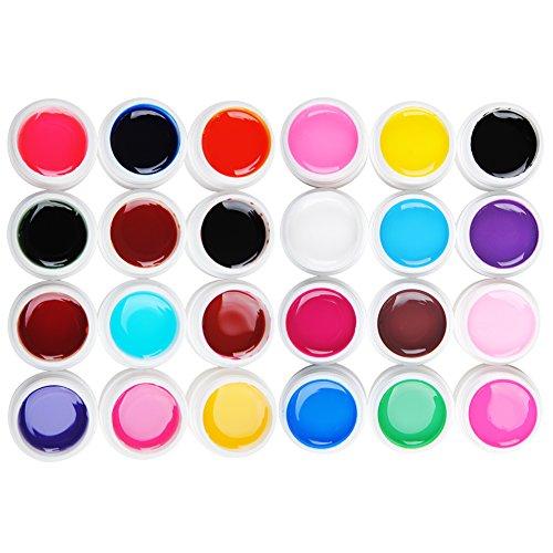 Coscelia Manucure Gel UV Solide Pur et Transparent Nail Art Kit