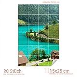 Graz Design 761144_15x25_70 Fliesenaufkleber Schwarzwald für Kacheln | Bad-Fliesen mit Fliesenbildern überkleben (Fliesenmaß: 15x25cm (BxH)//Bild: 70x105cm (BxH))