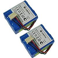2x Trade-Shop AKKU Ni-Mh 7,2V 2500mAh für Panasonic EZ6660 EZ6662 EY9065 EY9066