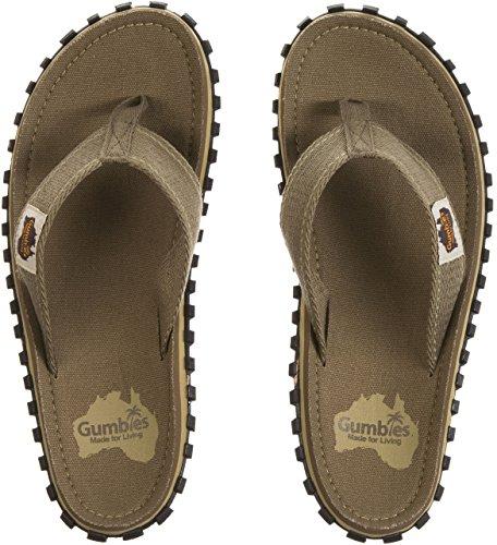Gumbies Islanders Adulto Sandali Infradito Scarpe Da Spiaggia Numero eu 36 - 12 UK - Verde Militare, 39 EU