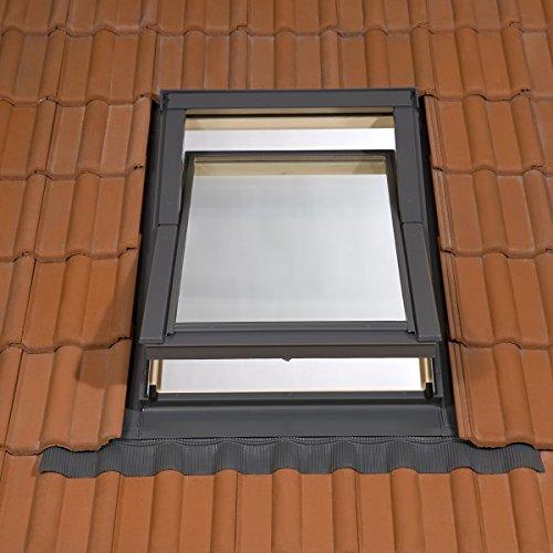 Rooflite Holz-Dachfenster mit Eindeckrahmen 55 x 98 cm fŸr beheizte und bewohnte RŠume AAX TFX C4A